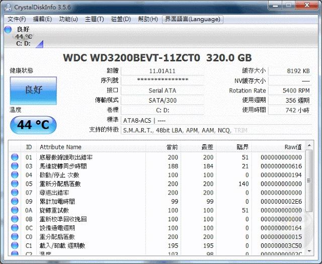 CrystalDiskInfo 7.8.2 中文可攜版 (for Windows)