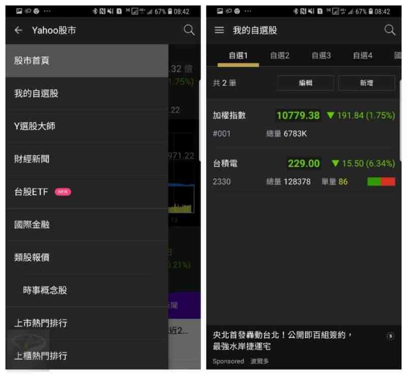 android yahoo stock_1