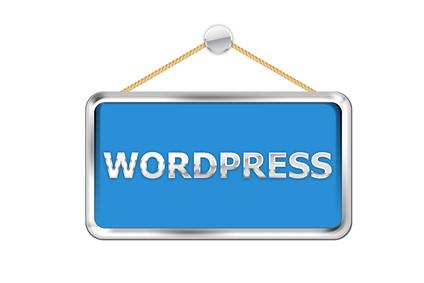Cartel azul wordpress
