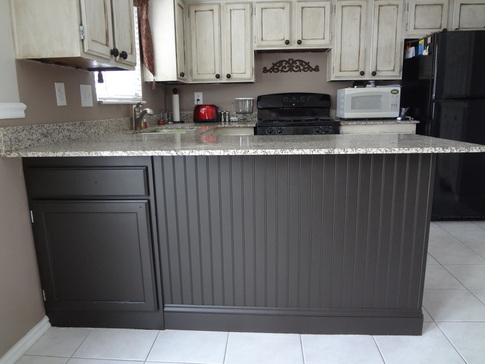 beadboard kitchen island best flooring for kitchens adding to your in our spare time