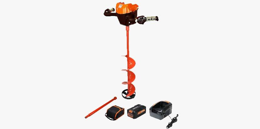 Trophy Strike 106482 120V Lithium Ion Ice Auger - Everything You Need to Start Drilling