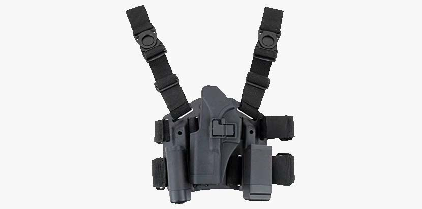 JahyShow Tactical Right Hand Paddle & Leg Belt Drop Leg Holster