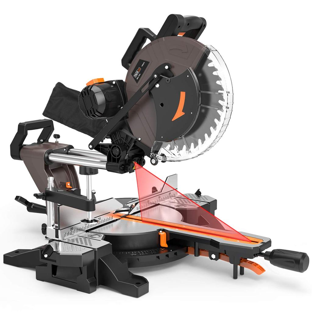 TACKLIFE 12-inch Double-Bevel Sliding Compound Miter Saw - PMS03A