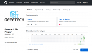 Geeetech's GitHub for open-source firmware