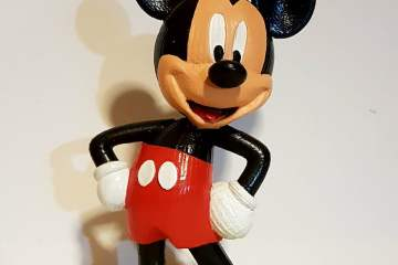 Painting a 3D Printed model of mickey mouse