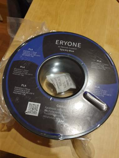 Eryone Sparkly Blue PLA Filament Review