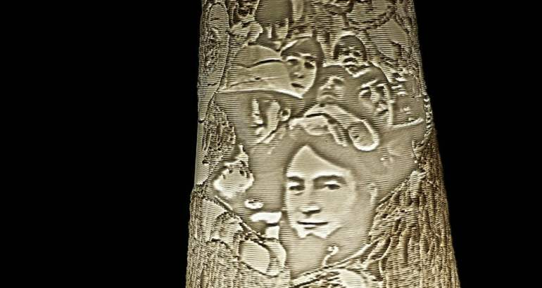 3D Printed Lithophane Lampshades In Vase Mode