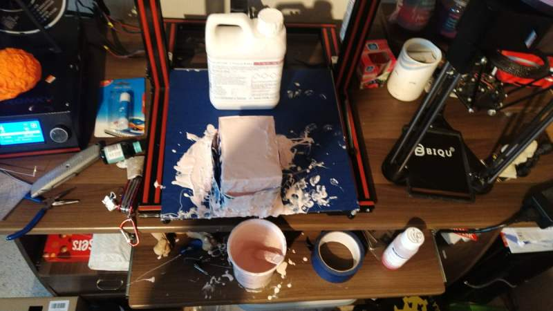 Creating a silicone mould from a 3D printed model