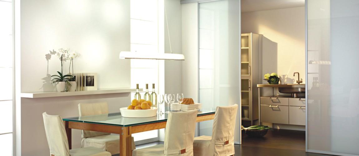 Kche und Esszimmer mit Schiebetren von und mit inova gestalten