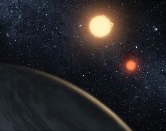 Astrônomos descobrem planeta com dois sóis