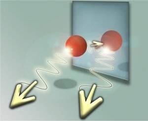 O átomo e sua imagem quântica no espelho