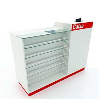 caixa expositor misto - Confira quais são os móveis para farmácias mais adequados para fazer a exposição dos produtos