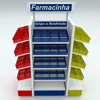 Gôndola para farmácia tipo farmacinha