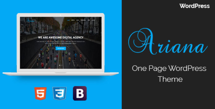 Ariana – Digital Agency One Page WordPress Theme
