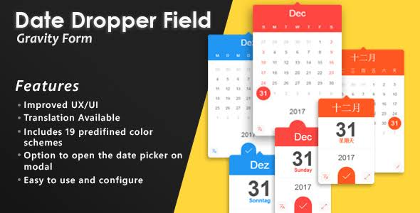 Gravity Forms Date Dropper Field WordPress Plugin Free Download