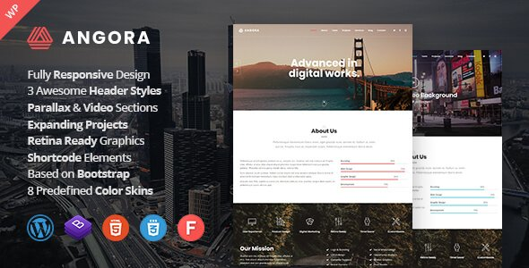 Angora – One Page Parallax FREE WordPress Theme