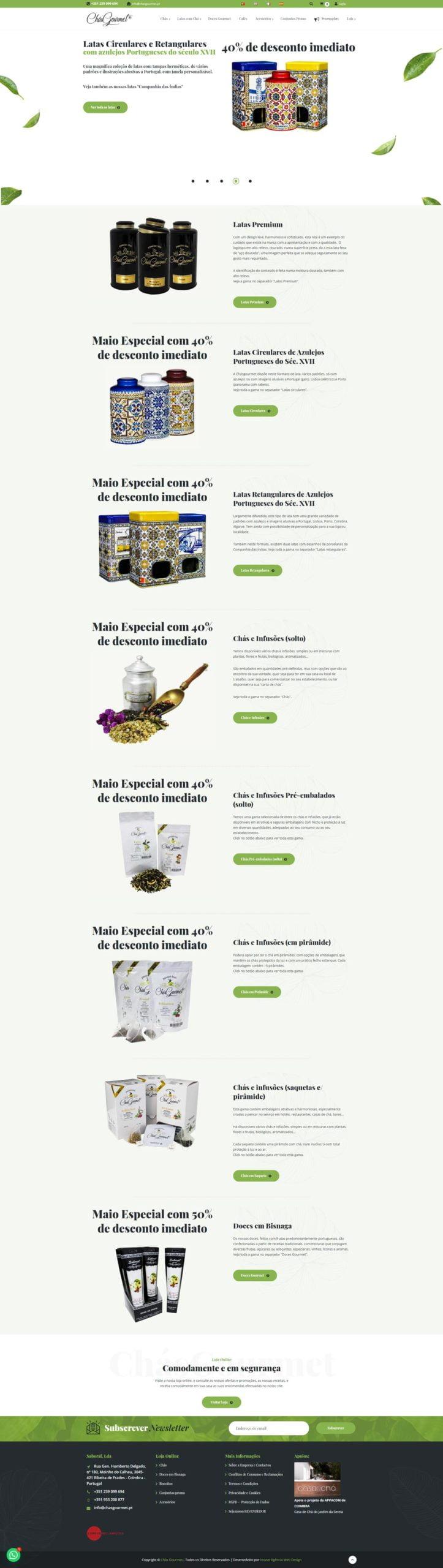 webdesign lojas virtuais ecommerce chasgourmet.pt