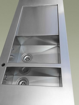 Piani cucina in acciaio inox Top cucina corten e rame su misura top cucina personalizzati a