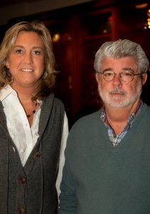 Leslie Iwerks with George Lucas