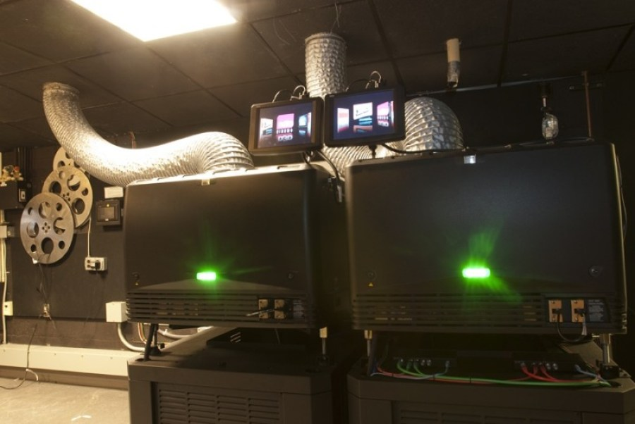 D3D digital cinema installation at DynaTheater.  Courtesy Barco.