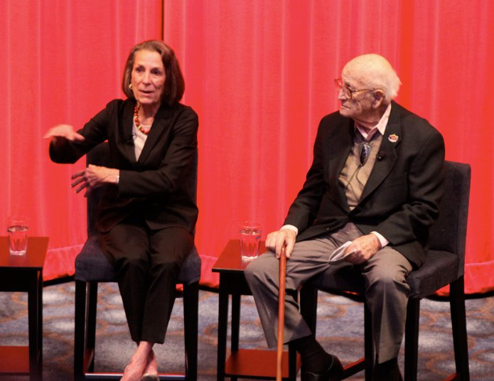 "Diane with Harrison ""Buzz"" Price in the Museum's Theater July 16, 2010"