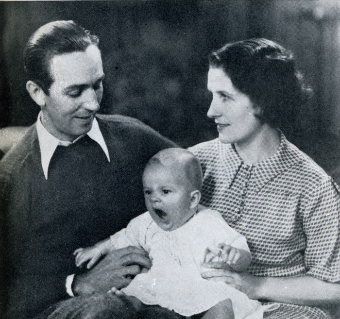 Diane with her parents Walt and Lillian Disney circa 1937