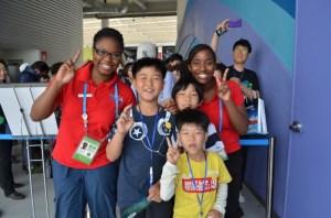 Student Ambassadors at USA Pavilion, Yeosu Expo 2012