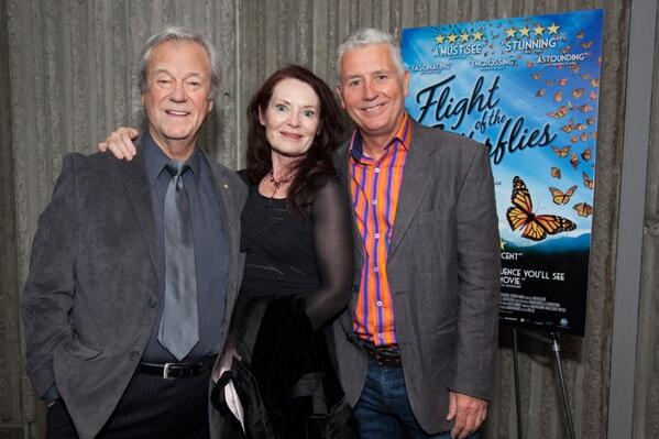 (L to R) Gordon Pinsent and Patricia Phillips who star as Dr. Fred and Norah Urquhart, and director Mike Slee at Ontario Science Centre premiere in Toronto.