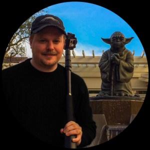 Matt Mascheri, president of Dome3D with an old, trusted friend. Courtesy Matthew Mascheri.