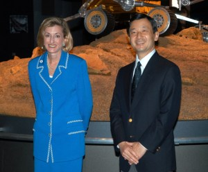 Crown Prince Naruhito of Japan with U.S. Commissioner General Lisa Gable at Aichi Expo 2005. Photo: Mel Lukens