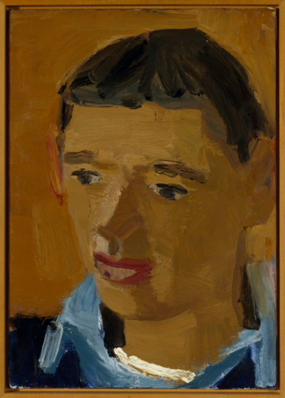 2.David Park, Portrait of Richard Diebenkorn, circa 1953. Oil on canvas, 21 x 15.25 in. Collection of the Oakland Museum of California, gift of Mrs. Roy Moore.