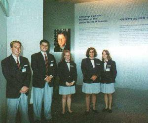 "Nowadays we call them ""Student Ambassadors"" - volunteer guides at Taejon Expo 93, US Pavilion. Photo courtesy James Ogul."