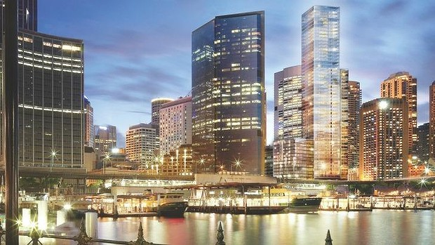 Conceptual artwork of Wanda's new development on the Sydney harbor