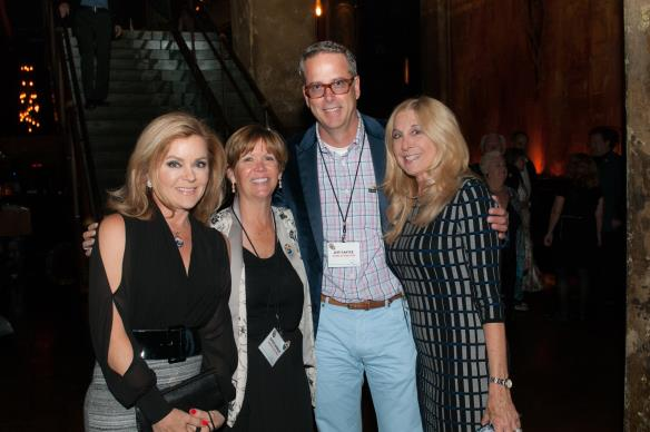 "PHOTO CAPTION: (From left to right) Host of the 25th Anniversary event and ""The Love Boat"" star, Jill Whelan with Ryman Arts Board Member, Kathy Mangum, and Event Co-Chairs, Jeff Ganter and Barbara Jacobs."
