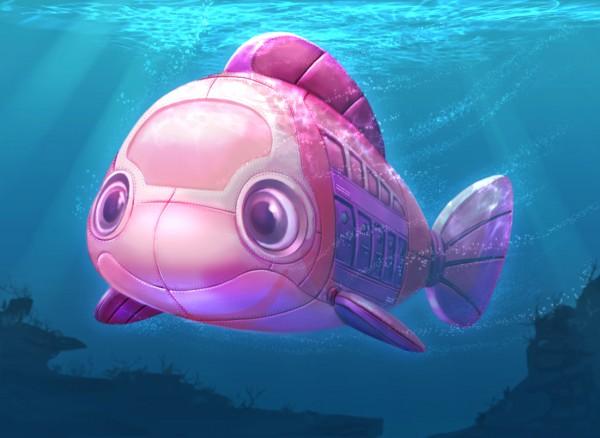 Fish themed submarine