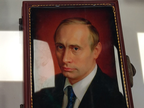 In the gift shop of the Russian pavilion, you can anticipate being the proud owner of a Vladimir Putin keepsake box. Unfortunately, one with a shirtless Putin was not available.