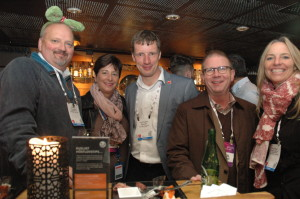 Guests at the TEA Mixer included Paul Noland, IAAPA CEO and Jennie Nevin, TEA COO (right).
