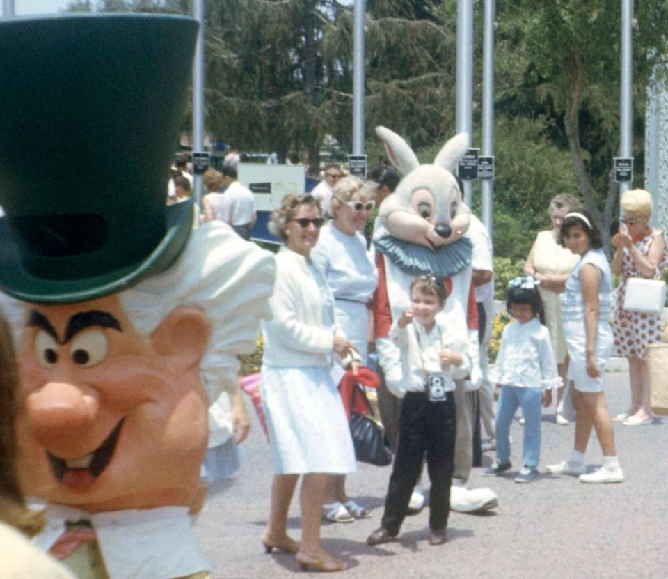 Don MacBain (center, with his camera) & Mom, Disneyland circa 1966