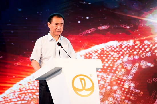 Wanda Group Chairman Wang Jianlin during the opening ceremony of Wanda Xishuangbanna International Resort. Courtesy Dalian Wanda Group.