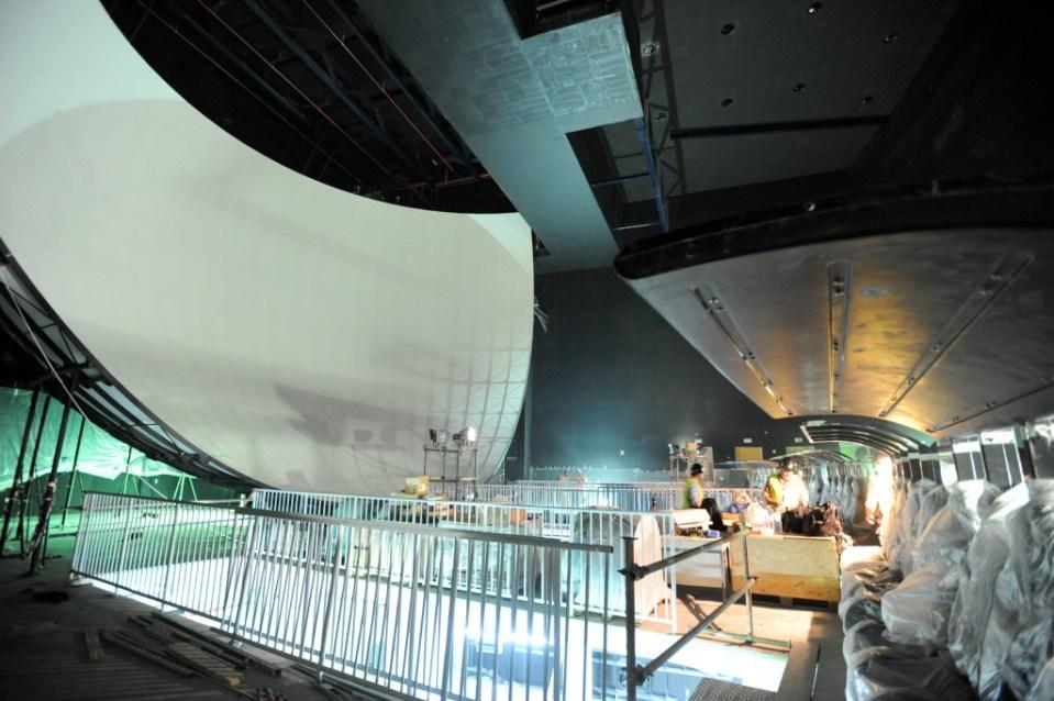 "F-26 ""Viaggio in Italia"" (Flying over Italy) Dome ridefilm venue at Ferrari World Abu Dhabi Toshi Kato, R&H Image Engineer and Don MacBain, Digital Producer."