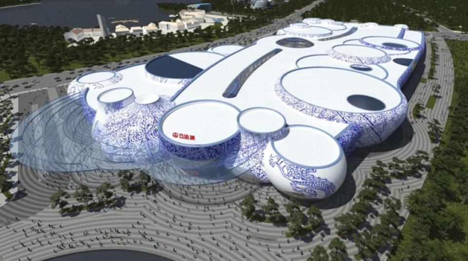 Wanda Plaza Nanchang. Courtesy Stufish Entertainment Architects.