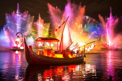 """Rivers of Light,""the majestic nighttime jewel, coming to Disney's Animal Kingdom creates an illuminating musical experience for guests. Currently in development with a premiere date to be announced soon, ""Rivers of Light"" will celebrate the magic of animals, humans and the natural world with a blend of performers, floating lanterns and theatrical animal imagery. (David Roark, photographer)"
