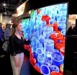 LG Dual View display at InfoComm