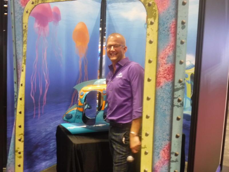 Brian Morrow at Chance Rides booth.