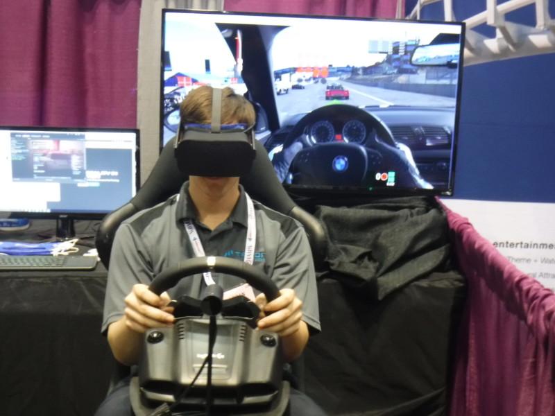 Talon Creative's VR simulation seat.