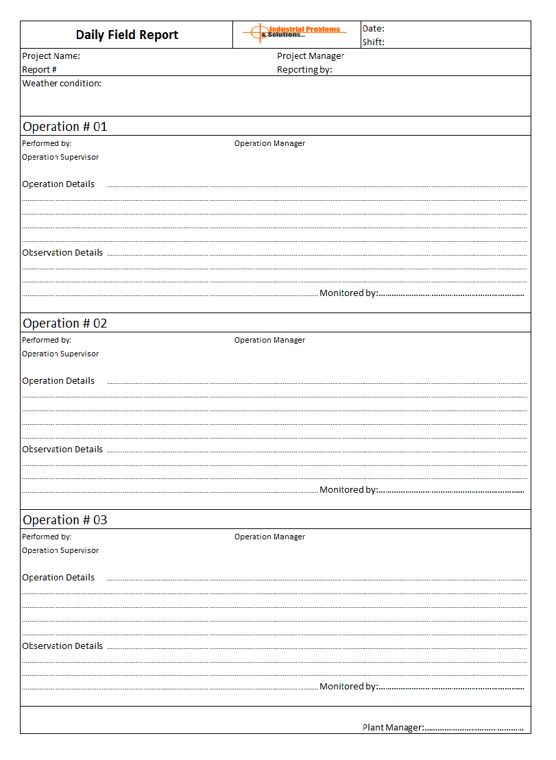 Free 26+ daily log templates in ms word. Daily Field Report Format
