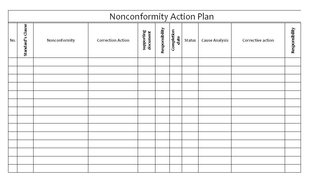 sample action plan template excel