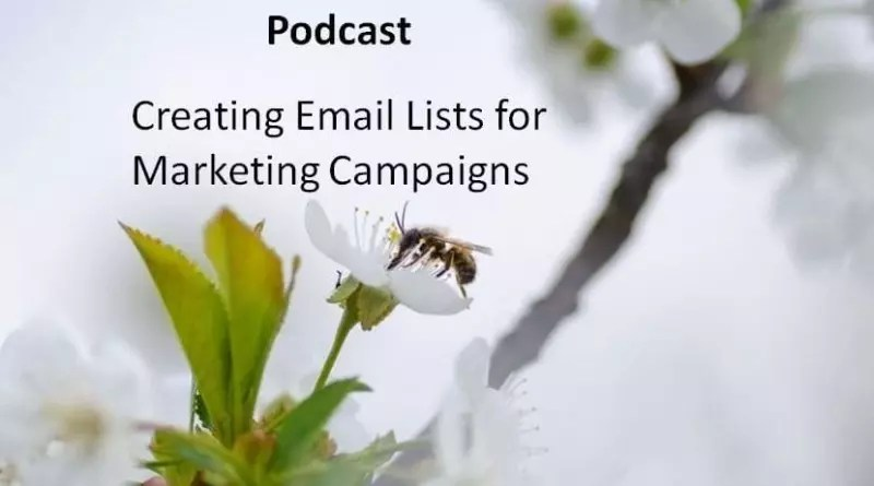 Creating Email Lists for Marketing Campaigns