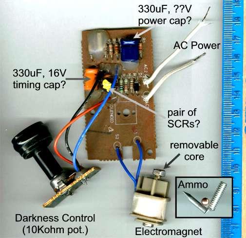 Schematic Of Dark Activated Switch Circuit