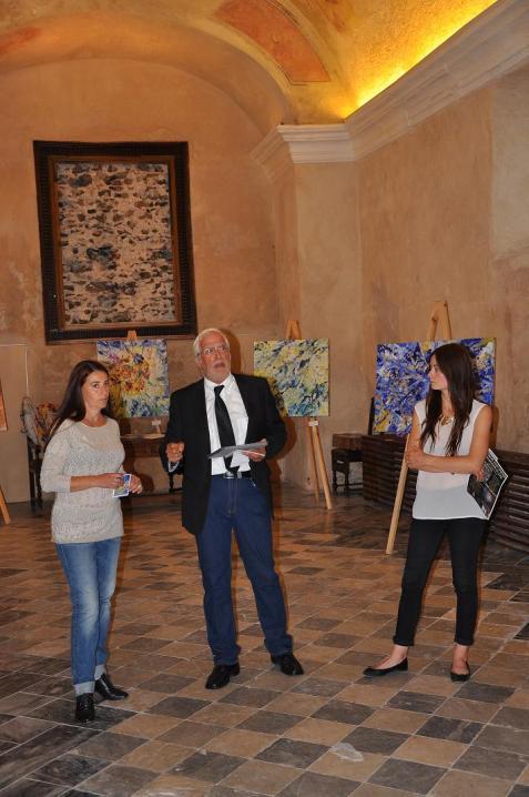 L'Artista Maria Rita Vita, il prof. Imo Furfori e la storica d'Arte Carole Dazzi